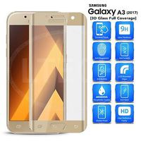 Защитное стекло Full Cover (3D)  Samsung Galaxy A3 2017, Gold