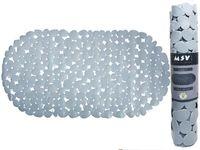 Коврик для ванны 39X99cm овал MSV Galets, серый, PVC