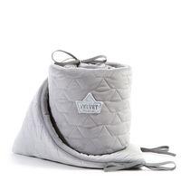Бортики в кроватку LaMillou Velvet Collection Grey