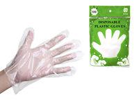 Перчатки хозяйственные 100шт 80gr, полиэтилен