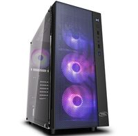Case ATX Deepcool MATREXX 55 MESH ADD-RGB 4F, w/o PSU, 4x120mm, RGB, Tempered Glass, USB3.0, Black