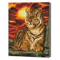 Тигр и огненное небо, 30х40 см, алмазная мозаика Артукул: QS200412