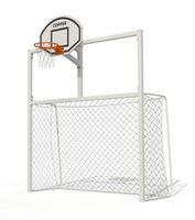 Ворота для минифутбола c баскетбольным щитом PTP 712 АРТ.5080
