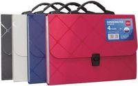DELI Папка-портфель пластиковая DELI Cube А4/13 отд.