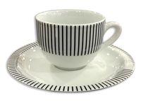 Чашка кофейная с блюдцeм Capri 75ml, в полоску