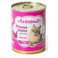 Леопольд Мясной Рацион Для Котов С Индейкой 360 Гр