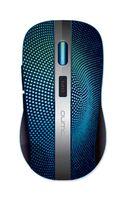 Wireless Mouse Qumo Comfort, Black/Blue