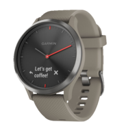 Vivomove Hr Black With Sandstone Silicone Band