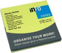 Info Notes Бумага клейкая INFO 75x75мм, 80 листов неон зеленый