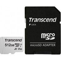 Сard de memorie Transcend MicroSD 512Gb Class 10 + SD adapter (TS512GUSD300S)