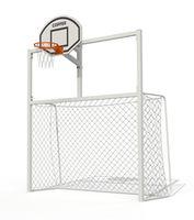 Ворота для минифутбола c баскетбольным щитом PTP 712