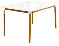 cumpără Masă cu picioare din lemn 1450x900x765 mm, alb în Chișinău