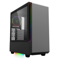Case ATX GAMEMAX Panda T802, 1x120mm ARGB fan, 3xARGB LED strip, PWM/Rainbow HUB, USB3.0, TG, Black