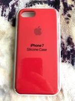 Apple Original Silicon Case Iphone 7 , Red