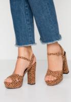 Sandale COWREN Imprimeu leopard cowren sandals high heeled tan leopard