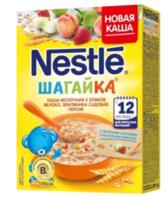 Nestle terci Pas multicereale cu lapte mere, căpșuni și piersici, 220 gr