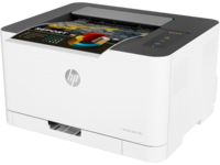 Printer HP Color LaserJet 150a, White, Up to 18ppm b/w, Up to 4ppm color, 600x600 dpi, Up to 20000 p., 64MB RAM, PCL 5c/6, Postscript 3, USB 2.0,Blue Angel DE-UZ 205 (HP 117A/X Bl/C/Y/M)