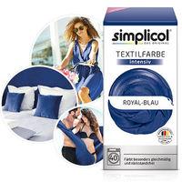 SIMPLICOL Intensiv - Royal-Blau, Краска для окрашивания одежды в стиральной машине, Royal-Blau