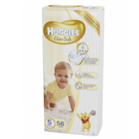 Huggies Scutece Elite Soft 5, 12- 22 kg, 56 buc.