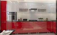 Bucătărie Bafimob Corner (High Gloss) 4.1x0.9m Eco +tandembox White/Red