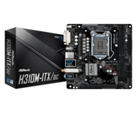 """MB ASRock H310M-ITX/AC mini-ITX //  CPU Supports 9th and 8th Gen Intel® Core™ Processors"""
