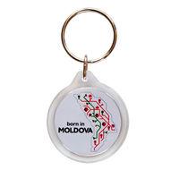 Брелок круглый пластиковый – born in Moldova