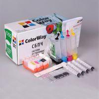 CISS ColorWay EP-T26 BK/C/M/Y, Epson T26/T27/C91/TX106/TX109/TX117/TX119/CX4300  (w/Ink, w/Cartridge+Chip)