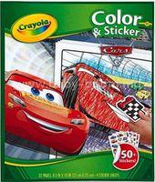 """Crayola 04-0128 Книга-раскраска """"Тачки"""" с наклейками"""