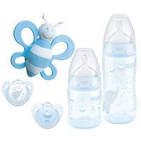 Nuk набор бутылочки пустышка и игрушка Baby Blue