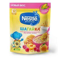 Nestle каша Шагайка мультизлаковая молочная мед, абрикос и малина, 12+ мес, 190 гр