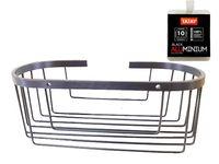 Cos oval Tatay 30X12X11.5cm negru, aluminiu