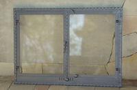Дверца стальная каминная со стеклом Halmat