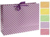 """купить Пакет подарочный """"неоновые полоски"""" 37.5X28.5X10.5cm в Кишинёве"""