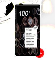 Ciocolată amară bio 100% bio Vivani 80g