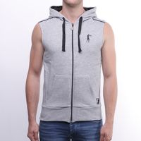 Jacheta Men SLEEVELESS HOODED F-ZIP SWEATSHIRT
