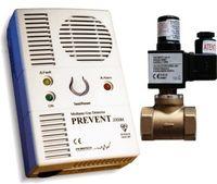 Kit detector gaz metan și monoxid de carbon + electrovana 3/4` Primatech