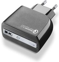 Cellularline Qualcomm 3.0 USB Charger Black (ACHUSBQUALCOMMK)