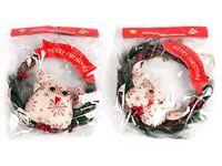 """купить Украшение венок """"Merry Christmas"""" с совой D23cm в Кишинёве"""