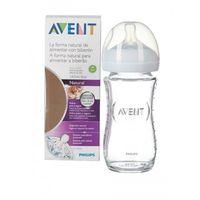 Бутылочка стеклянная Philips AVENT с силиконовой соской 240 мл (1+ мес)