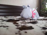 Мягкая игрушка бегемот Белый