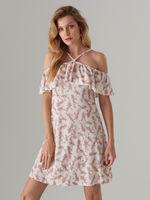 Платье MOHITO Белый с принтом xo243