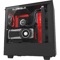 Case NZXT H500i Black Red, with CAM Smart RGB lighting and Fan performance (CA-H500W-BR)