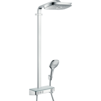 Sistema de hansgrohe Raindance Select E 300 3jet Showerpipe cu termostat, chrome