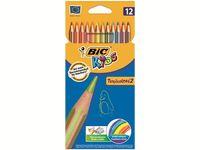 Набор карандашей цветных 12шт BIC Tropicolors