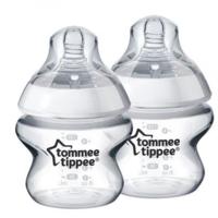 Tommee Tippee бутылочка пластиковая 0+мес. 150мл. 2шт