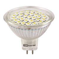 MR16 LED 7W 220V 3000К GU5,3 (с матовым стеклом) светодиодная лампа TDM