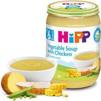 Hipp пюре овощной суп с курицей, 4+мес. 190г