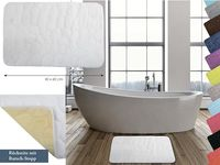 Covoras pentru baie 40X60cm Pebble alba, microfibra