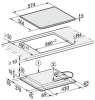 Индукционная панель Miele KM7201FR