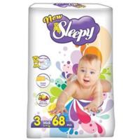 Sleepy Подгузники для детей 3, 5-9кг, 68 шт.